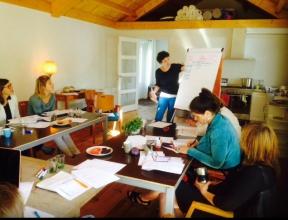 Workshop over de 12 ondernemersprofielen voor een intervisiegroep.