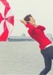 Selma Foeken met Paraplu